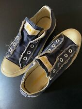 Converse Chuck Taylor All Star No Lace slip-on Sneakers Mens 4 Womens 6 Blue