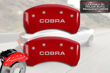 "2007-2014 Ford Mustang Shelby GT500 Rear Red MGP Brake Caliper Covers ""Cobra"" 2p"