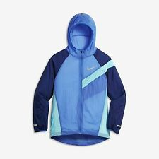 Nike Kids Boys Impossibly Light Running Jacket 844312 478 Comet Blue Binary Blue
