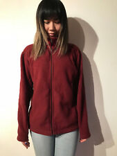PATAGONIA FLEECE BURGUNDY ZIP JACKET WOMEN'S SIZE MEDIUM FALL SPRING