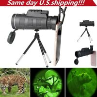 40X60 Zoom Optical HD Lens Monocular Telescope+ Tripod+ Clip For Universal Phone