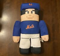 "NY Mets 15"" Rally Men Plush Stuffed Doll Minecraft Baseball Player -SCARCE!"