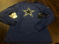 New Nike Dallas Cowboys NFL Football Dri-fit Shirt Size Medium Blue White