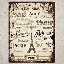 PP0088 Vintage Paris Sign Rustic Parking Plate Home Restaurant Cafe Gift Decor