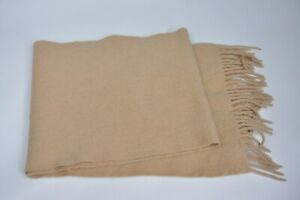 MACKINTOSH CAMEL WOOL SCARF