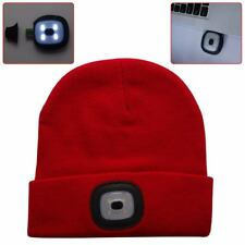 4 LED Light Cap Knit Beanie Hat with 2 Batteries Outdoor Hunting Camping Fishing