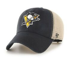 Pittsburgh Penguins hat cap new nwt NHL '47 Brand Adjustable snapback black logo