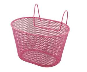 588160023 - Basket Iron Oval Pink for Bicycle Baby With Hooks