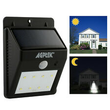8LED Solar Power PIR Motion Sensor Wall Light Outdoor Waterproof Garden Lamp