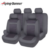 Truck SUV Car Seat Covers Black Washable Front& Rear Full Set Seat Protectors