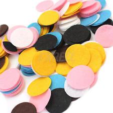 New listing 100Pcs 30mm Mixed Colors Die Cut Felt Circle Appliques Cardmaking Diy Craft