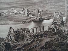 1925 HASANKEYF HISN KEF Turkey Ruins Mosque Sepia Photogravure ARCHITECTURE
