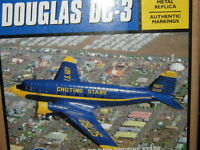 US Navy Chuting Stars Blue Angels Ertl DC-3 C-47 Airplanes w Stand NEW-FREE SHIP