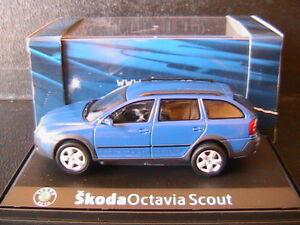 SKODA OCTAVIA COMBI SCOUT 2 BLUE DYNAMIC 2007 ABREX 143AB011L 1/43 SW STATION