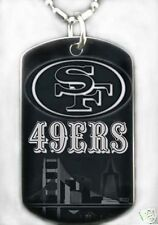 SAN FRANCISCO 49ERS - Dog tag Necklace/Keychain + FREE ENGRAVING
