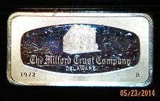 Franklin Mint MILFORD TRUST COMPANY Delaware 2.08 troy 1972 Sterling Silver