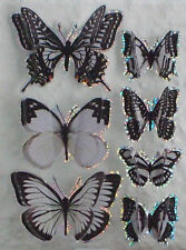 3D Black Butterfly Stickers- Embellishments-Lots of uses