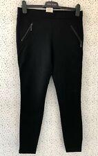 Matty M Black Zip Detail Thick Leggings Trousers Size M