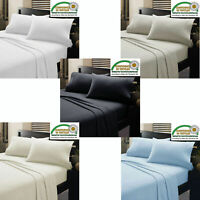 4 PCs Sheet Set Egyptian Cotton 800-Thread Count 15 inch Drop All Size & Colors