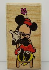 Minnie Mouse Thoughts of Love Wood Rubber Stamp rubber stampede Disney Valentine