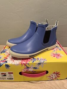 NEW Joules Blue Rainwell Boots Women's 7