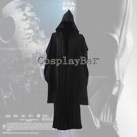 Star Wars Darth Maul Tunic Black Hooded Cloak Robe Halloween Cosplay Costume