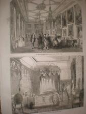 Van Dyke Gallery Windsor Castle & State Bedroom Buckingham Palace 1855 prints AV