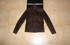 Dolce&Gabbana Black Label Runway LOGO PLATE Goat-Leather Jacket 48 IT 1395€