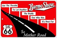 Burma Shave 8x12 metal sign - for Barber Shop Collectible hunters Route rt 66