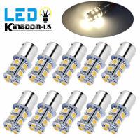 10x Warm White 1156 1073 1141 7506 13SMD 5050 RV Camper LED Interior Light 12V
