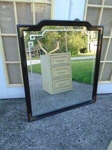 LG Asian Pagoda Mirror Greek Key Oriental Hollywood Regency Chippendale Black