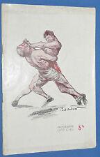 RARE PROGRAMME CATCH 1937 P. ORDNER KOLOFF RIGOULOT PERREIRA KAPLAN ARIF KERSIC