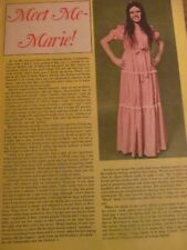 Marie Osmond, Donny Osmond, Double Full Page Vintage Clipping