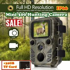 Mini 300 охоты Trail Camera 12MP Gprs Mms 1080P ИК ночное видение видеокамера Hm