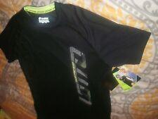 Lotto Boys Football Soccer Shirt Black Italian Sports Design Top Sz XL/XXL (B77)