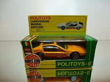 POLITOYS E568 LAMBORGHINI MARZAL BERTONE - ORANGE 1:43 - GOOD CONDITION IN BOX