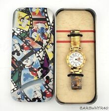 Winnie the Pooh Character Watch in Original Mickey Mouse Tin Box for Disney