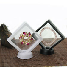 Clear Jewelry Suspended Coins Floating Display Case Stand Holder Box Easy Use NE