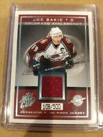 2003 Pacific Quest for the Cup Authentic Game-Worn Jerseys/500 #6 Joe Sakic Card
