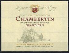 Etiquette de Vin - Bourgogne - Chambertin- Grand Cru - Réf.n°167