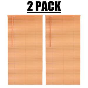 "(2) PACK Mainstays Cordless Room Darkening 1"" Vinyl Mini Blind 46"" x 64"", Khaki"