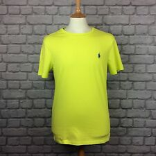POLO by Ralph Lauren Da Uomo UK M Giallo T-Shirt Tee casual estate vacanze