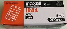 10 pcs New 0% Hg Maxell LR44 AG13 A76 Battery (FREE SHIPPING WORLDWIDE) EX: 2022