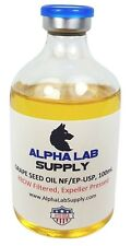 Alpha Lab Supply 100mL Sterile Filtered Grape Seed Oil USP - Free Shipping