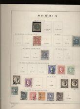 Serbia 1866/18 collezione su vecchi fogli d'album N2134