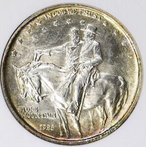 1923 Stone Mountain Commemorative Silver Half Dollar ANACS MS63 Toned