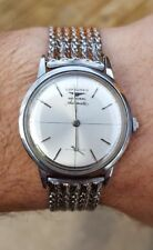 Vintage MEN'S LONGINES Admiral 1200 Stainless Steel Automatic wristwatch NICE!!