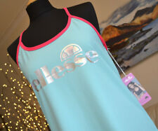 ELLESSE NEW Lucy Mecklenburgh Activewear Top Turquoise Pink Womens Sz. Med BNWT