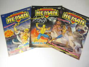 HE-MAN NEW ADVENTURES Comics Nr. 1 , 2 , 3 - Masters of the Universe MotU