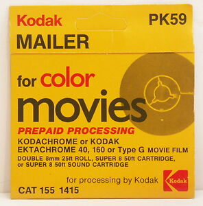 Kodak PK-59 Prepaid Processing Mailer for 8mm film - Collection/Display Only